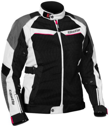Castle X Women's Passion Air Motorcycle Jacket, White Product image