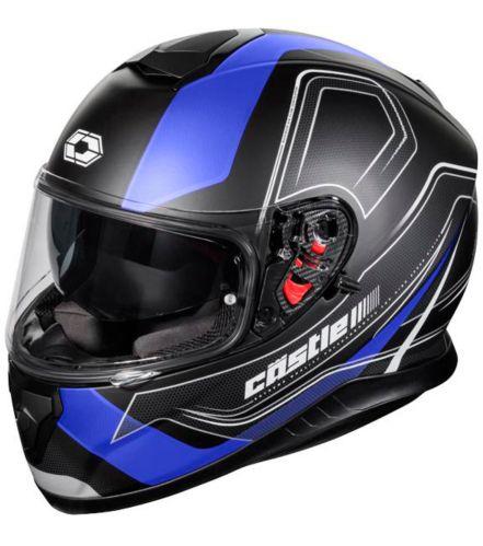 Castle X Thunder 3 SV Trace Motorcycle Helmet, Matte Blue Product image