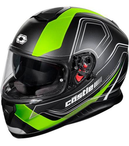 Castle X Thunder 3 SV Trace Motorcycle Helmet, Matte Hi-Vis Product image