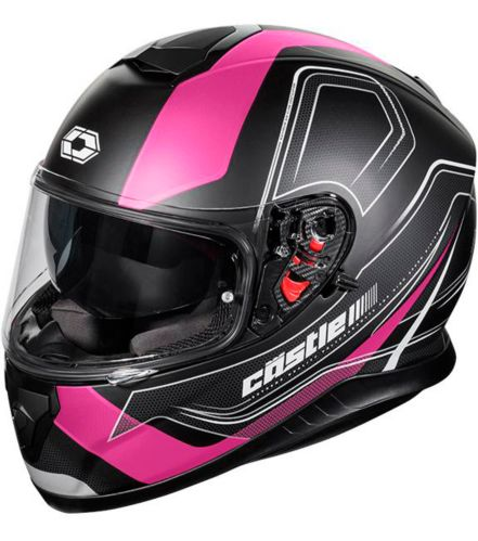 Castle X Thunder 3 SV Trace Motorcycle Helmet, Matte Pink Product image