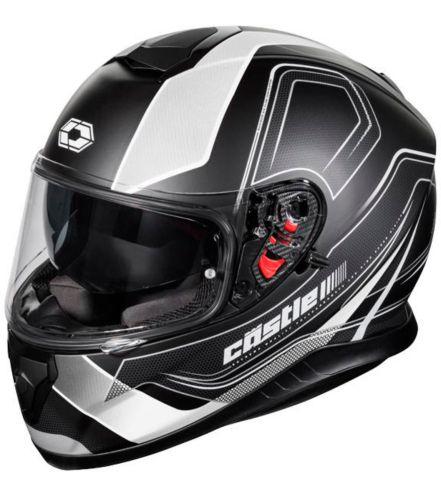 Castle X Thunder 3 SV Trace Motorcycle Helmet, Matte White Product image