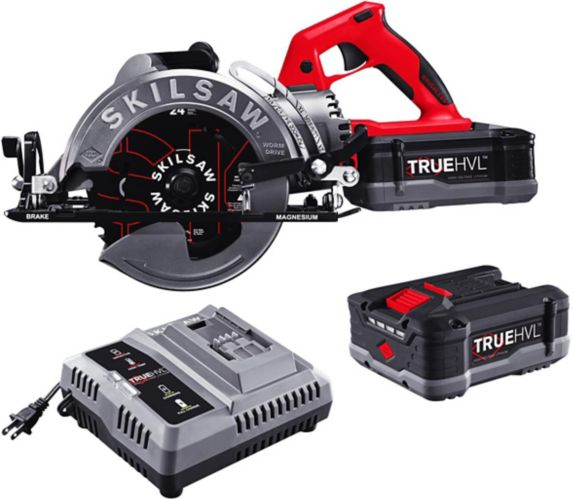 SKILSAW 7-1/4-in TRUEHVL™ Cordless Worm Drive Saw Kit with 2x TRUEHVL™ Batteries & SKILSAW Blade Product image