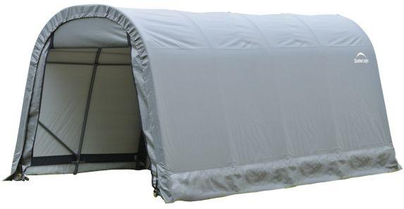 ShelterLogic ShelterCoat™ Round Style Garage Shelter, Grey, 8-ft x 16-ft x 8-ft Product image