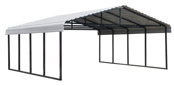 ShelterLogic Arrow Carport, Eggshell, 20-ft x 20-ft x 7-ft Product image