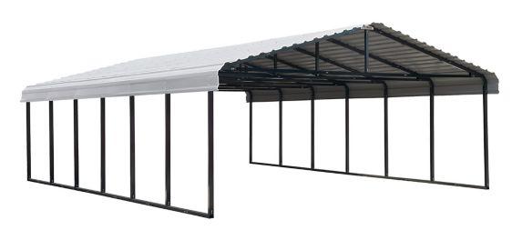 Abri d'auto ShelterLogic Arrow, coquille d'oeuf, 20 x 29 x 7 pi Image de l'article