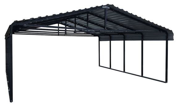 ShelterLogic Arrow Carport, Charcoal, 20-ftx 20-ft x 7-ft Product image