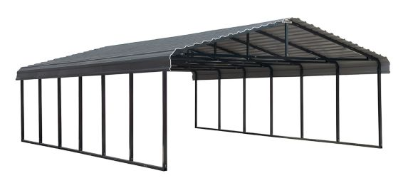 ShelterLogic Arrow Carport, Charcoal, 20-ft x 29-ft x 7-ft Product image