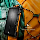 Chargeur portable solaire ToughTested TT 10000mAh avec chargement QI | ToughTestednull