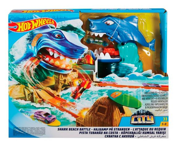 Hot Wheels® City Shark Beach Battle Playset Product image