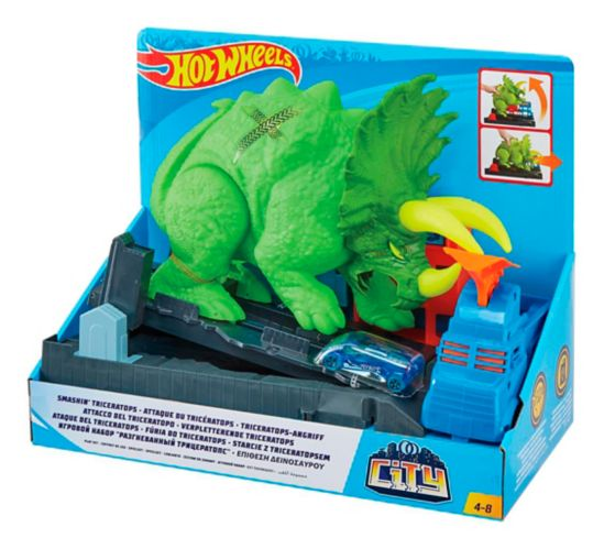 Hot Wheels® Smashin' Triceratops Playset Product image
