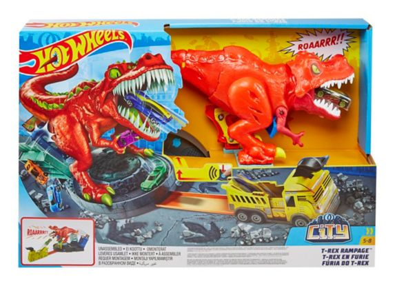 Coffret de jeu Hot Wheels, T-Rex en furie Image de l'article