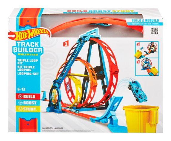 Piste de course à construire à trois boucles Hot Wheels Image de l'article