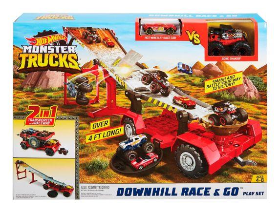 Ensemble de jeu camions monstres Hot Wheels Course en descente Image de l'article