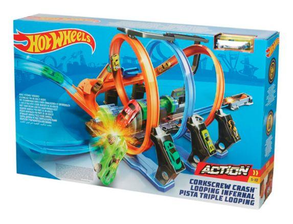 Hot Wheels® Corkscrew Crash™ Track Set with Vehicle Product image
