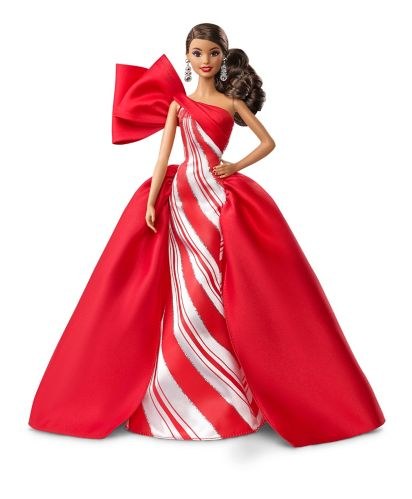Barbie® Holiday Brunette Side Ponytail Doll Product image