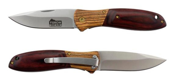 Yukon Gear EDC Wood Handle Folder Linerlock Product image