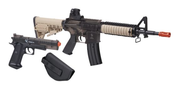 Crossman Game Face Warrior Protection Airsoft Rifle & Pistol Kit Product image