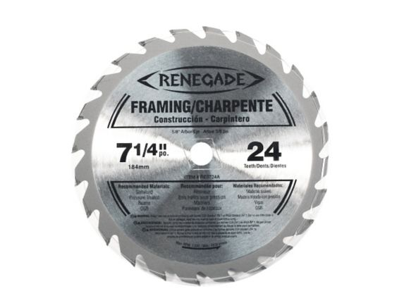Renigade 24-Tooth Circular Saw Blade, 7-1/4-in Product image