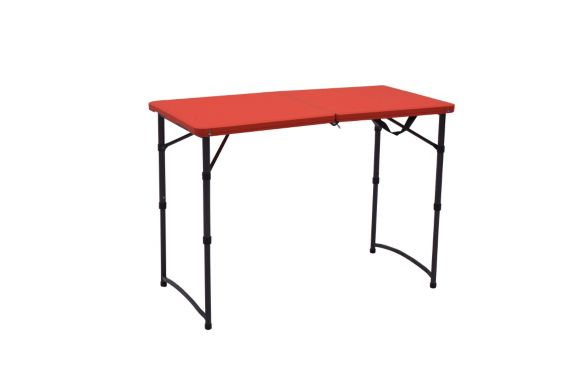 Red Folding Table, 3-ft Product image