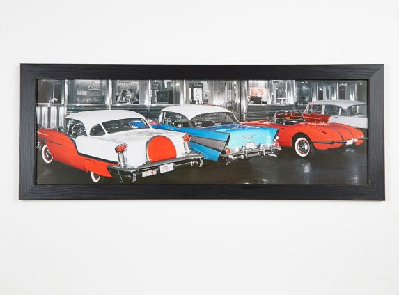 Diner Multi-Car Art Canvas Product image