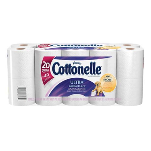 Cottonelle® Ultra Comfort Care Double Roll Toilet Paper, 20-roll Product image
