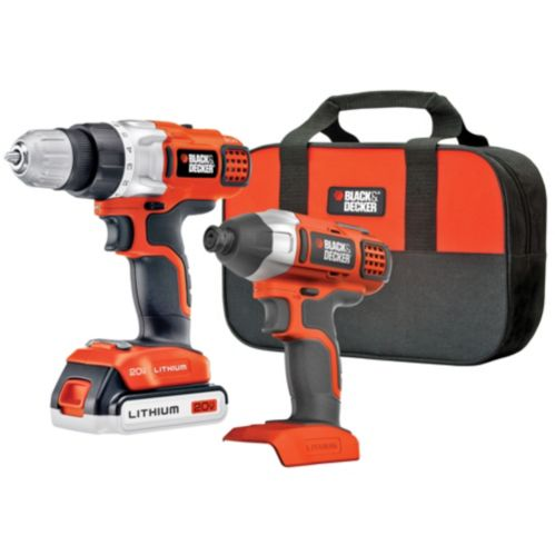 Black & Decker 20V Max Li-Ion 2-Tool Cordless Combo Kit Product image