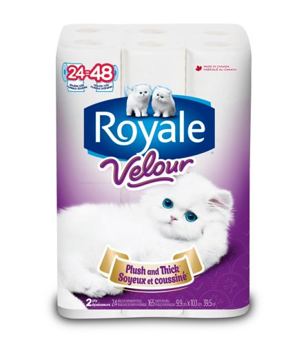 Royale Velour Toilet Paper, 24-roll Product image