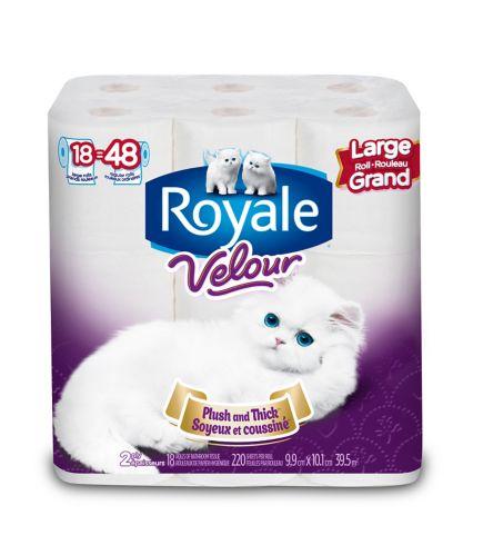 Papier hygiénique Royale Velour, 18 rouleaux géants Image de l'article