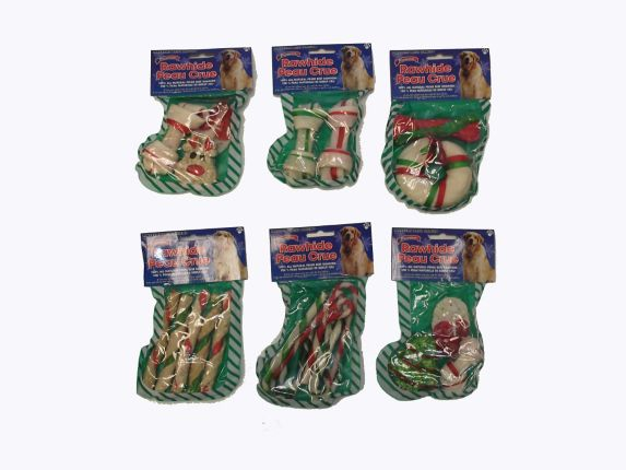 Os en cuir brut en forme de bas de Noël, choix varié Image de l'article
