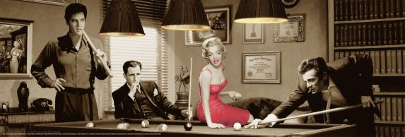 Elvis Playing Pool Poster Product image