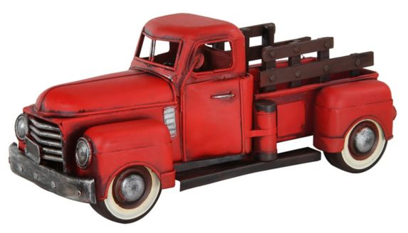 Grosse camionnette GMC 1950 rouge, matricée Image de l'article
