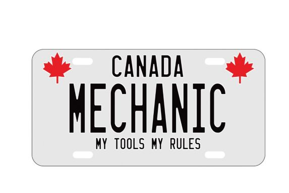 Man Cave Mechanic License Plate Product image