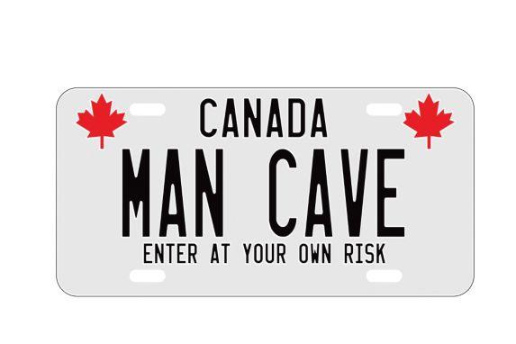 Plaque d'immatriculation décorative Man Cave Image de l'article