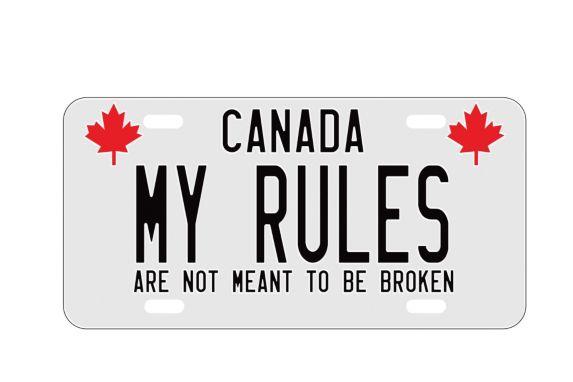 Plaque d'immatriculation décorative My Rules Image de l'article