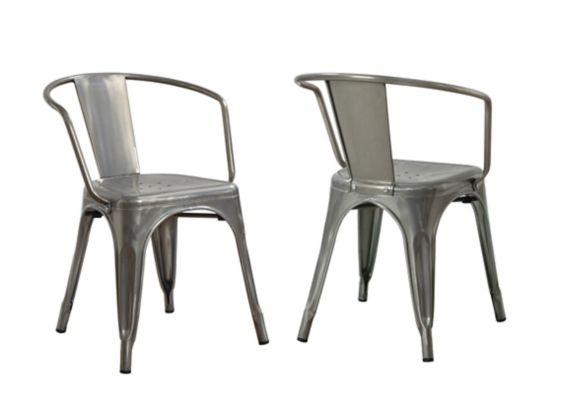Chaises en métal, paquet de 2 Image de l'article