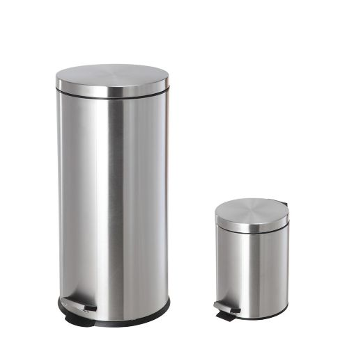 type A Stainless Steel Step Can Set, 2-pc Product image