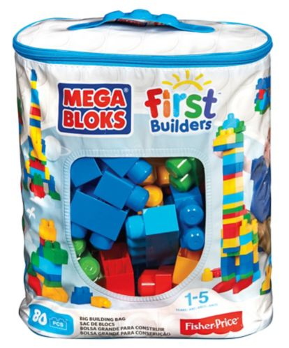 Sac de construction Mega Bloks First Builders, 80 pièces Image de l'article