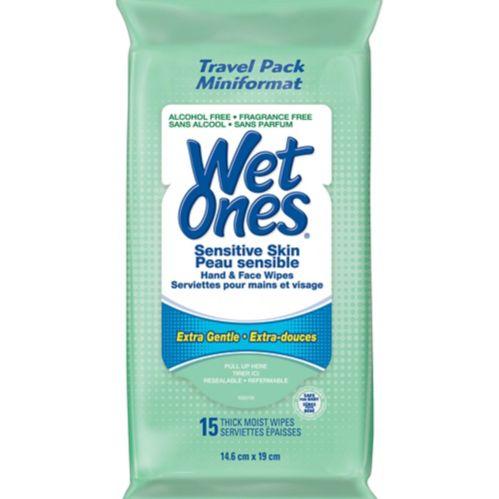 Lingettes Wet Ones peau sensible, paq. 15 Image de l'article