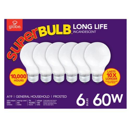 Globe 60W Super Bulb, 6-pk Product image