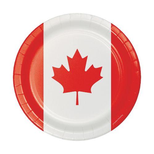 Assiettes plates en papier, fête du Canada Image de l'article