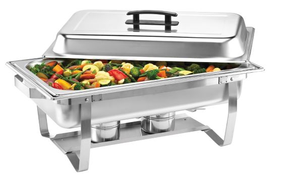 Home Presence Stainless Steel Buffet Server with Lid, 9 quart Product image