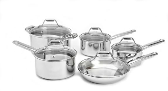 T-Fal Stainless Steel Cookware Set, 10-pc Product image