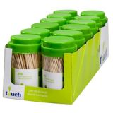 Cure-dents ronds Touch, 250 paq. | Touchnull