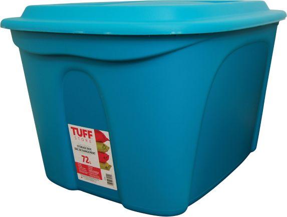 Boîte de rangement empilable, bleu sarcelle, 72 L Image de l'article