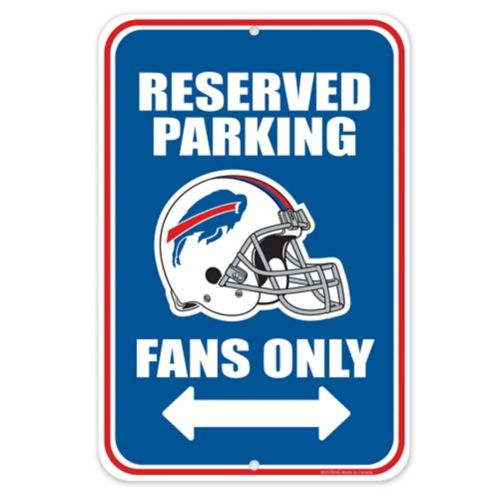Buffalo Bills Parking Sign, 8 x 12-in Product image