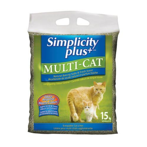Simplicity Multi Cat Litter, 15-kg Product image