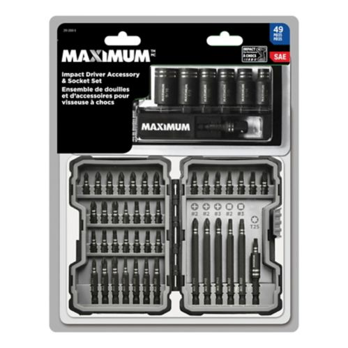 Impact Driver Accessory Set, 42-pc with Bonus Socket Set, 7-pc Product image