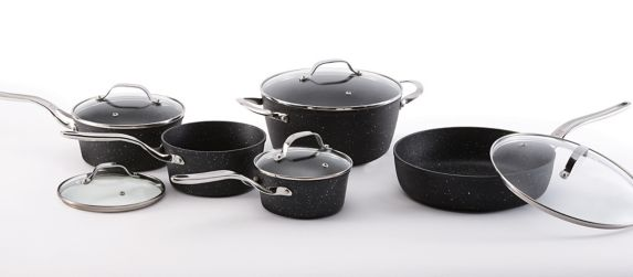 Heritage The Rock Non-Stick Cookware Set with Bonus Roaster, 10-pc