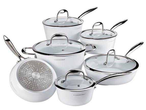 Batterie de cuisine Lagostina Bianco avec wok en prime, 11 pces Image de l'article