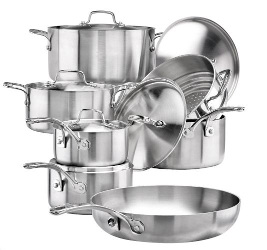 Lagostina Commercial Clad Cookware Set with Utensils, 13-pc Product image